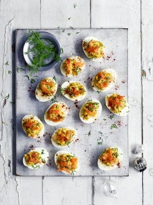 Salmon Devilled Eggs   Fish Recipes   Jamie Oliver
