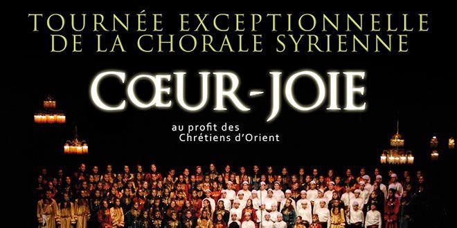 Pour la première fois depuis le début du conflit, les enfants de la chorale d'enfants syriens, Coeur-Joie, pourra à nouveau se produire en France, à l'occasion d'une tournée française exceptionnelle.