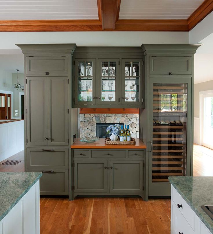 Amazing Room Divider Between Kitchen Living Also Love The Colour Woodstock Green Classic Paint