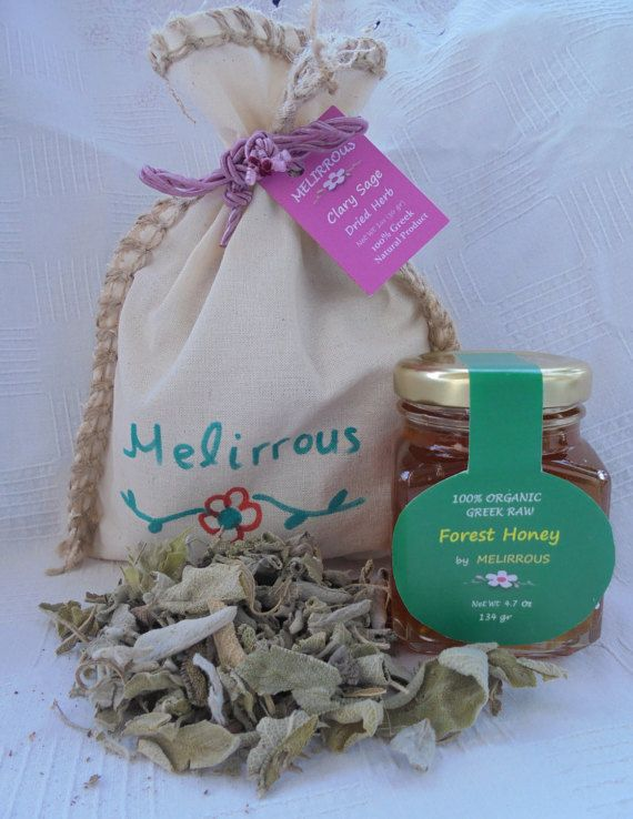 Clary Sage Dried Herb and Raw Forest Honey by MelirrousBees