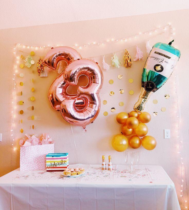 Birthday Decorations Party City Target Diy Balloons Champagne 23 In 2021 23rd Birthday Decorations Champagne Birthday Birthday Decorations