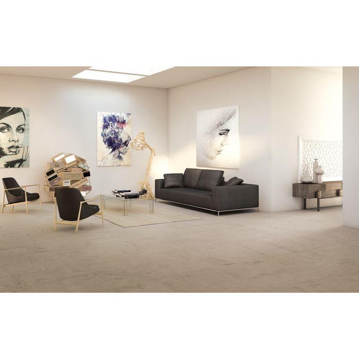 Carrelage intérieur aspect résine 30x60 Tortora Naturel Rectifié, collection Studio Century