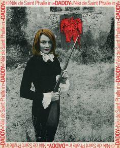 "Niki de Saint Phalle. Photo d'exploitation du film ""Daddy"". France, 1973. Tirage offset"