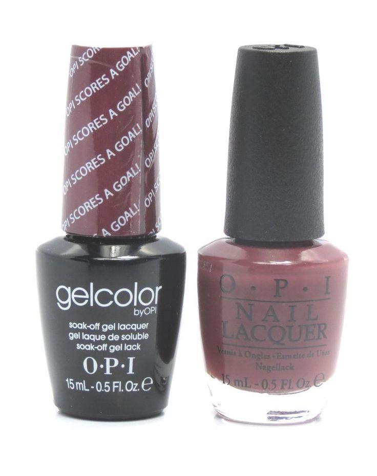 Opi Soak-Off GelColor Gel Polish + Nail Polish OPI Scores A Goal! GC-A63 .5 oz #OPI