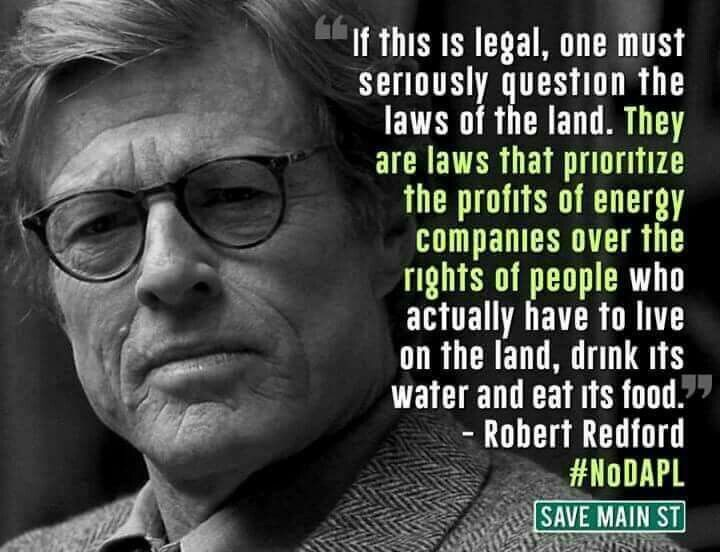 Robert Redford, in a towering rage, I guess. What a cautious bunch the Hollywood liberals are.