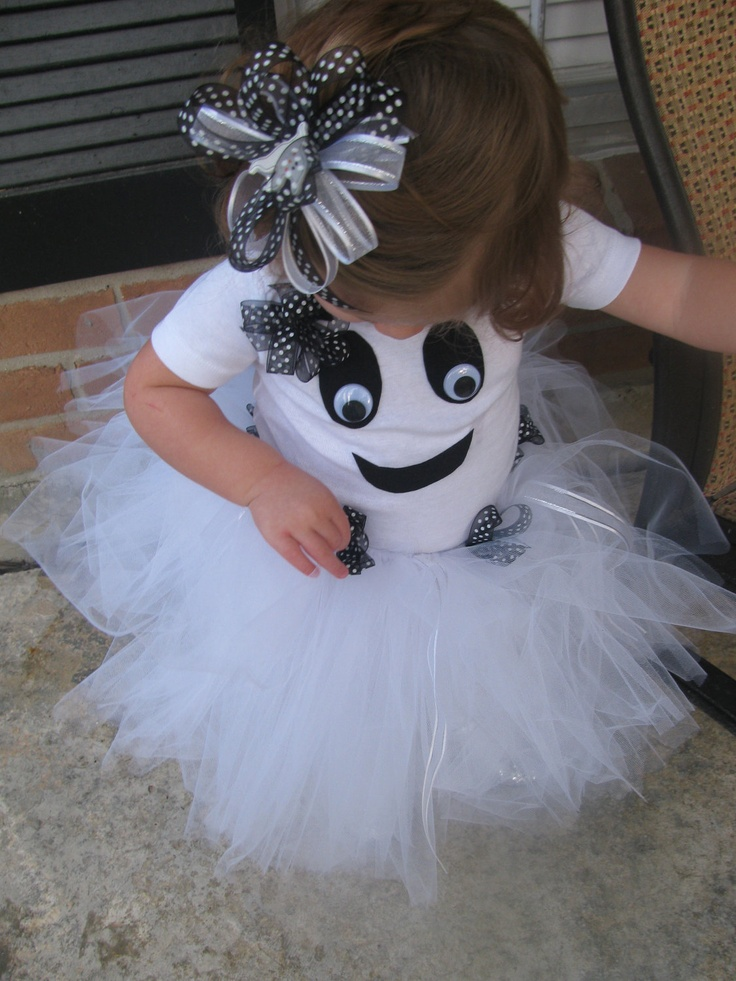 Toddler Girl Ghost Costume with Tutu and Bow: Ghost Costumes, Girls Ghosts, Tutu Costumes, Little Girls, Idea, Ghosts Costumes, Halloween Costumes, Toddler Girls, Toddlers Girls