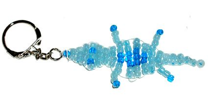 Fabriquer un porte-clés crocodile en perles