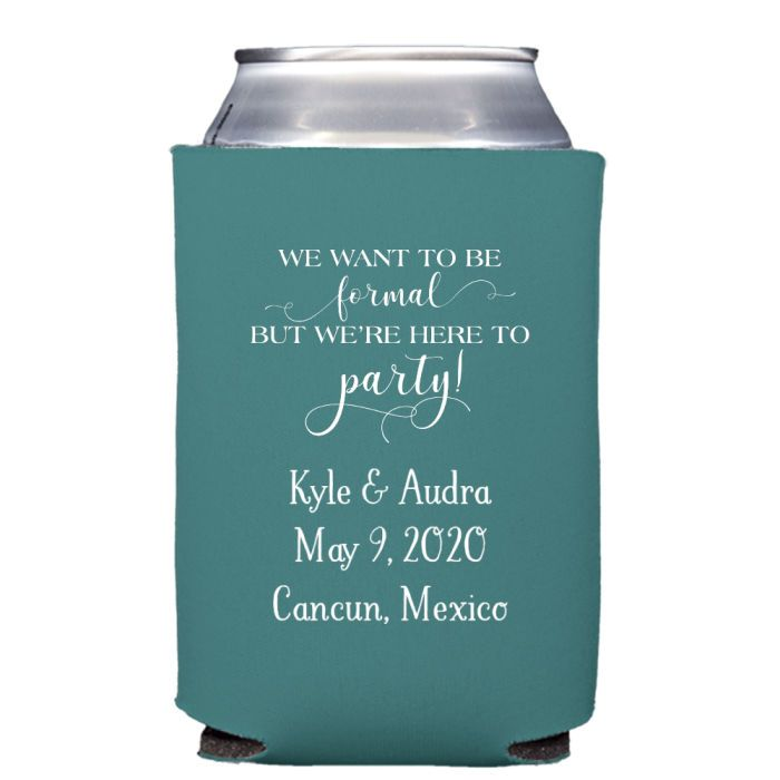 Personalized Premium Neoprene Wedding Can Coolers Custom Koozies Wedding My Wedding Reception Ideas Wedding Favors