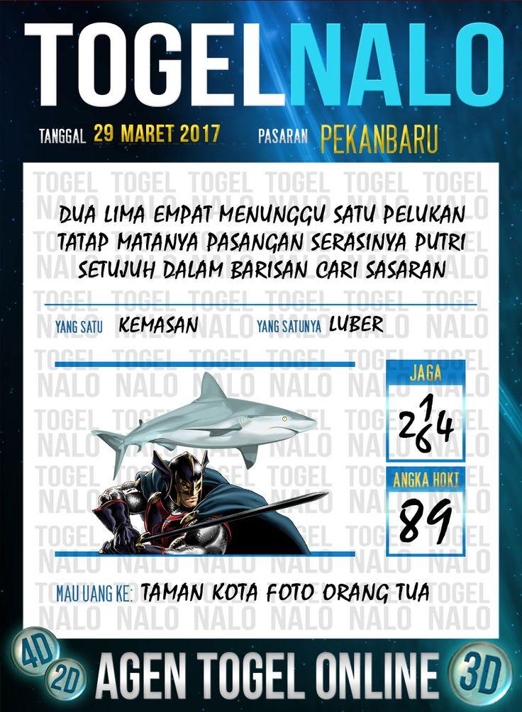 Kode Jitu 6D Togel Wap Online TogelNalo Pekanbaru 29 Maret 2017