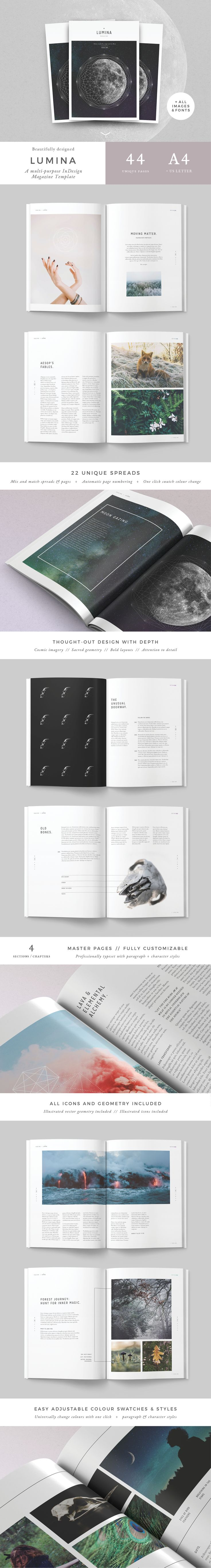 A beautiful multipurpose image based magazine, booklet, brochure or folio. Clean, modern and fully customisable. Ideal for all types of publications: New Age magazines, Astrology magazines, health and science publications, digital ebooks, photography, fas…