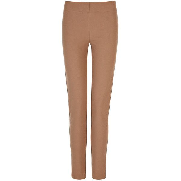Joseph Gabardine Stretch Legging in CAMEL ($320) ❤ liked on Polyvore featuring pants, leggings, camel, joseph pants, beige leggings, stretchy leggings, elastic waist pants and gabardine trousers