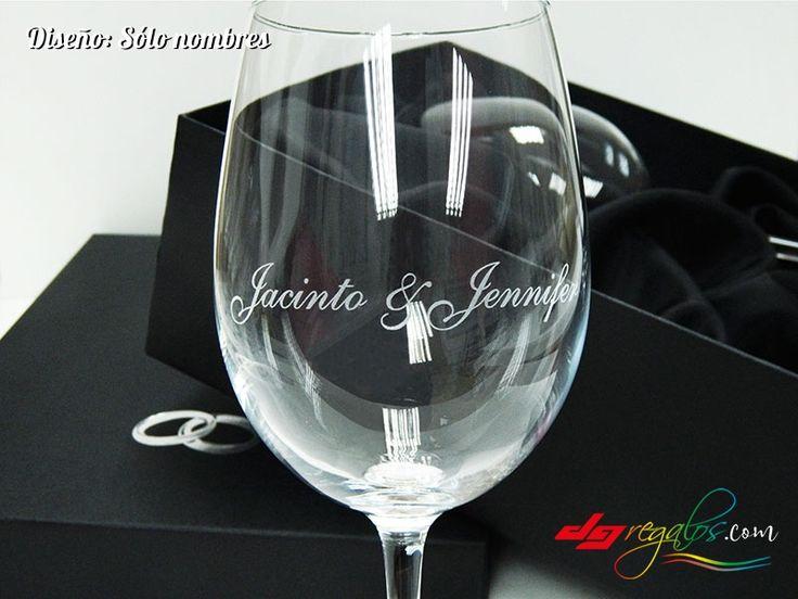 Copas de vino personalizadas con nombres