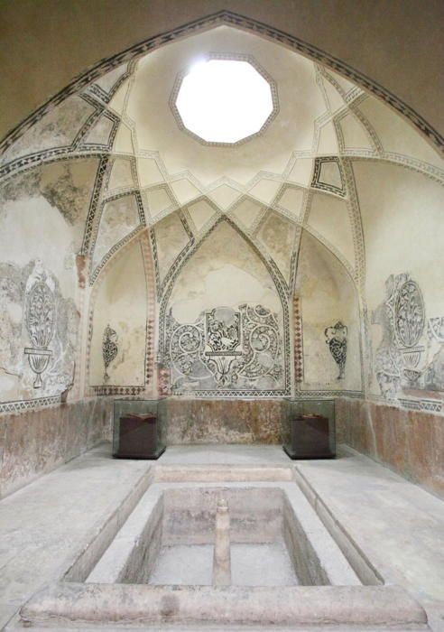 Bath house in Hammam-e Vakil (Iran).