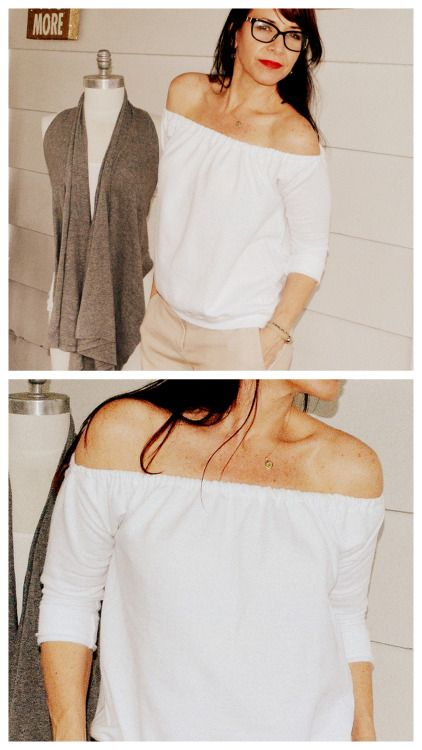 DIY Off the Shoulder Sweatshirt Tutorial.This Off the Shoulder...