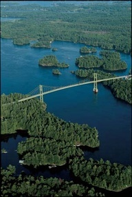 Canada- US bridge at the Thousand Islands