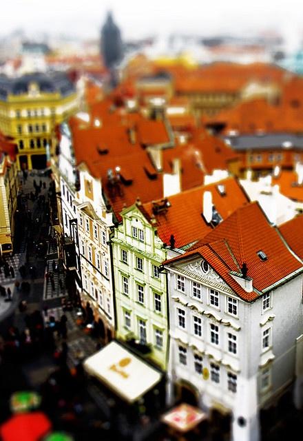 Prague. Fake tilt shift by Siobhian Carroll