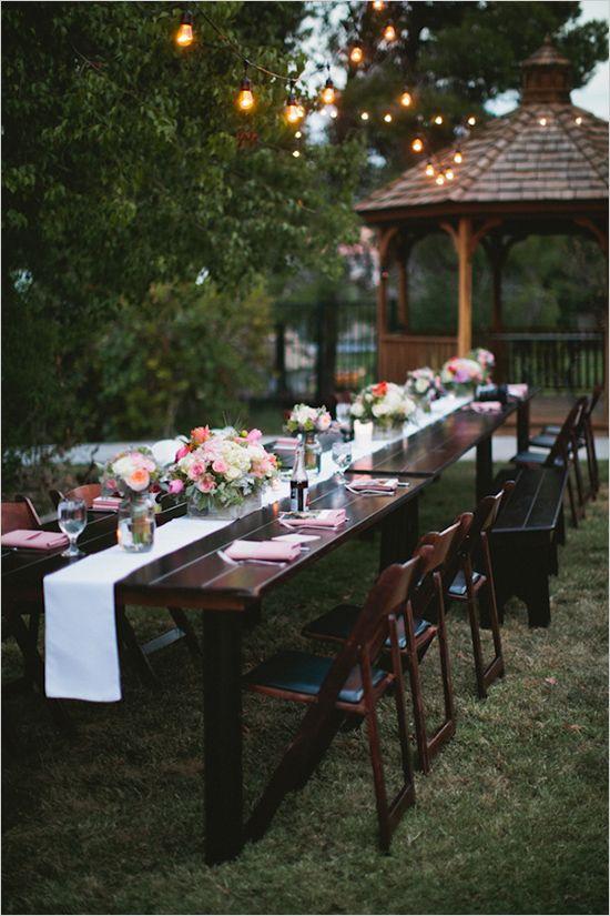 お庭でガーデンパーティ