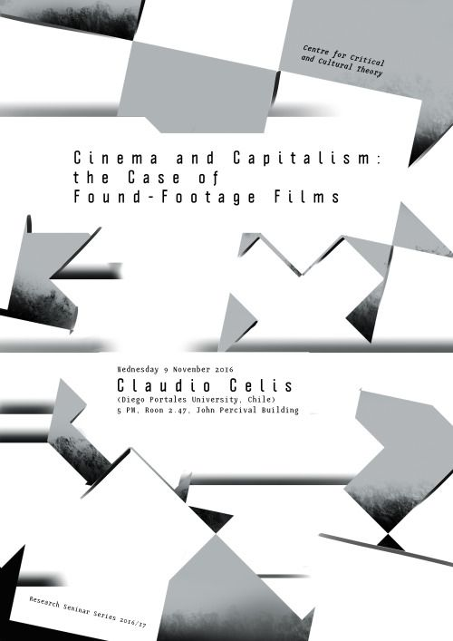 Janez Plesnar, Cinema and Capitalism: the Case of Found-Footage Films, poster, 2016