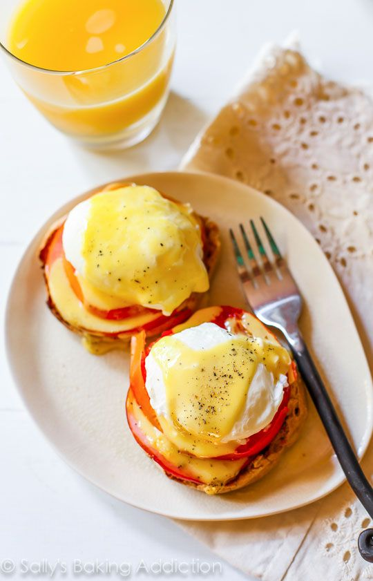 Homemade Eggs Benedict Recipe is a staple at our house! Click through for the recipe on sallysbakingaddiction.com