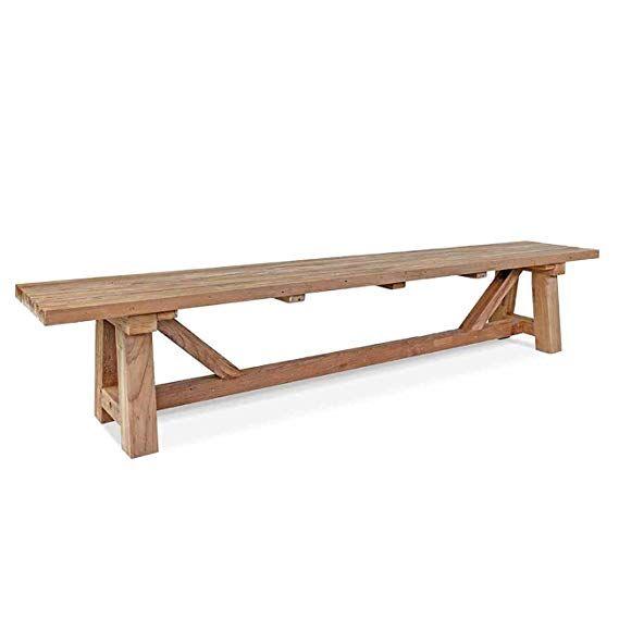 Outliv Holzbank Rustikal Marbella 4 Sitzerbank 240cm Teak Holz