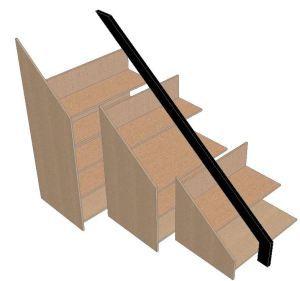 Mueble Solución para bajo escalera   La Carpinteria de Daniel