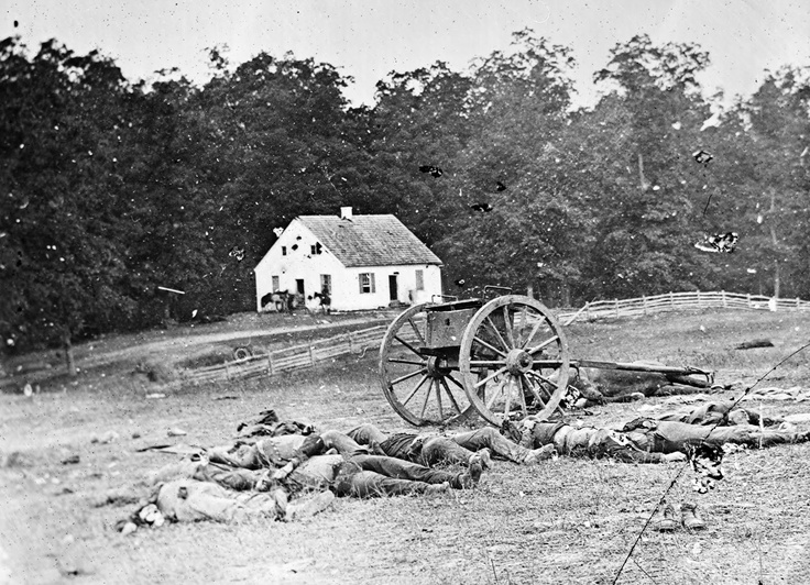 Sept. 17 1862 The Battle of Antietam/Sharpsburg. The bloodiest single day of the Civil War with 23,000 casualties. This photo shows Dunker Church where much of the first stage of the battle took place