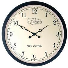 Nextime выс. настенные часы, старинный дизайн, ретро часы черный металл стекло Ø 35 см