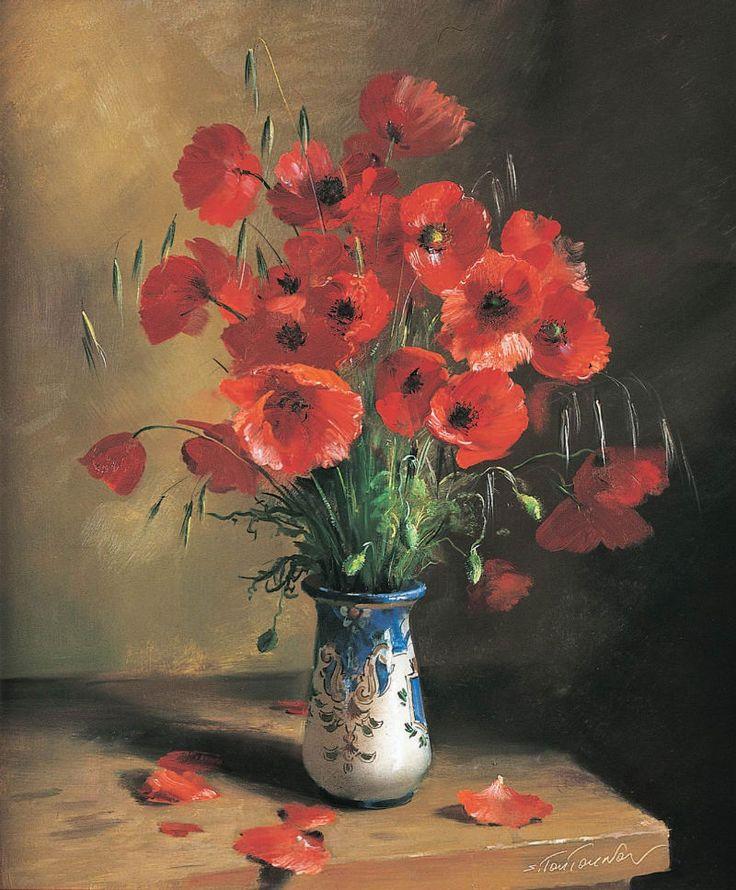 Sergei Tutunov ( b.1958) — Poppies (800×968)
