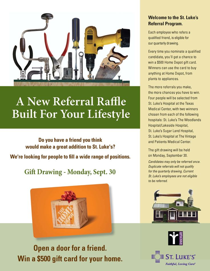employee referral program ad we created for out client st