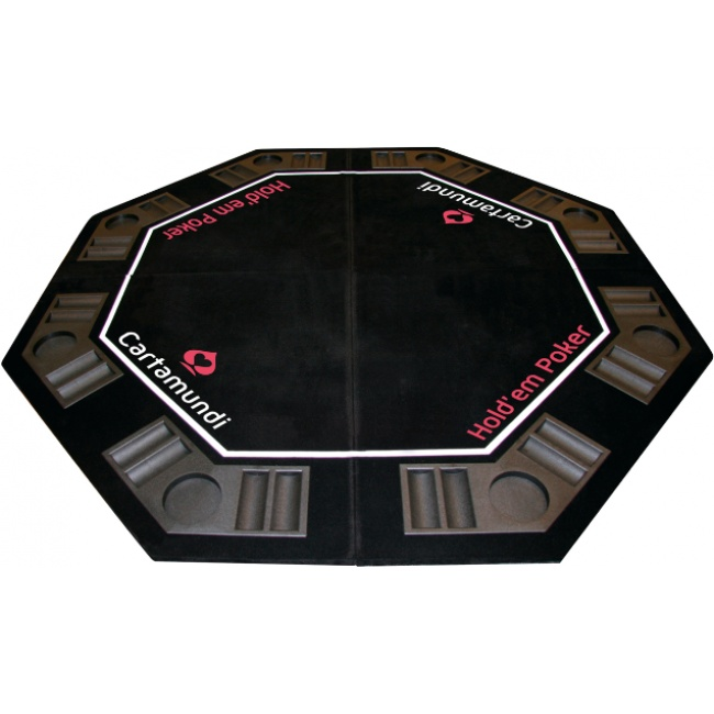 Haal het casino in huis met dit achthoekige poker tafelblad van Carta Mundi. Cartmundi de poker leverancier uit België. www.pokerwinkel.nl/poker-tafels.html