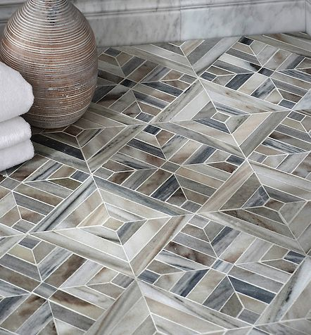 Warm and cool parquet tile.  Customizable tile for floors and walls.