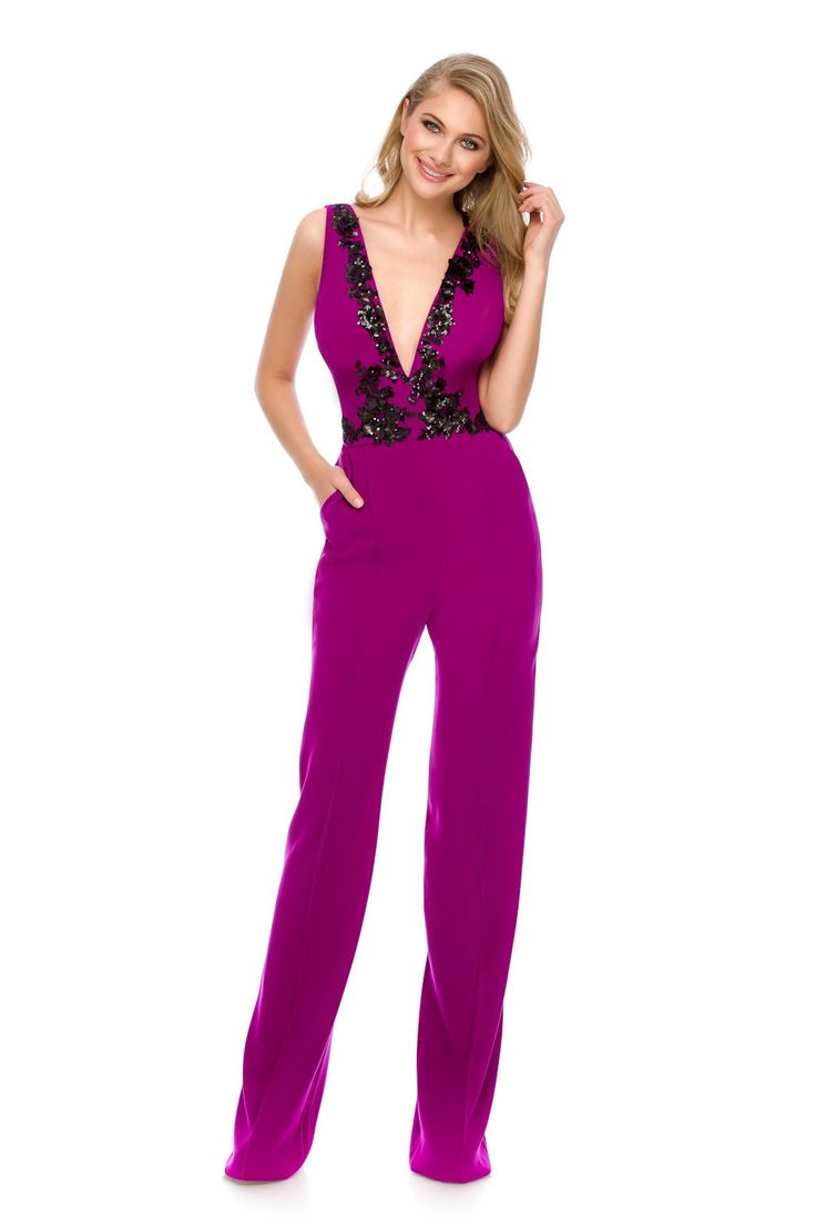 We dare you to be elegant and comfy wearing the perfect purple jumpsuit - Odette by Athena Philip >>> www.athenaphilip.ro