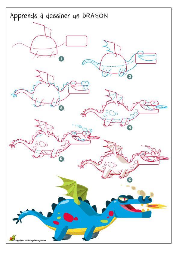 Dessiner un dragon dessins pinterest dragon - Dessin d un dragon ...
