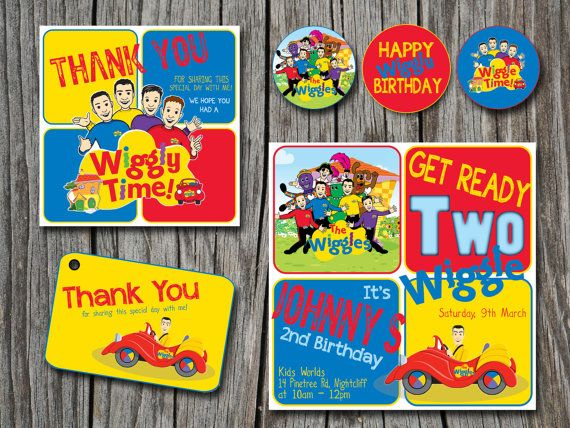 WIGGLES Birthday Invitation Party Printable by EmbellisheDesigns