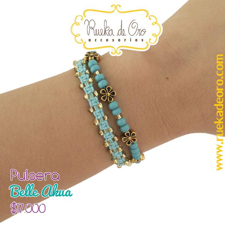 Pulsera Belle Akua   Rueka de Oro accesorios www.ruekadeoro.com #accesorios #aretes #collares #pulseras #bolsos #cuellos #relojes #fashion #colombia #bogota