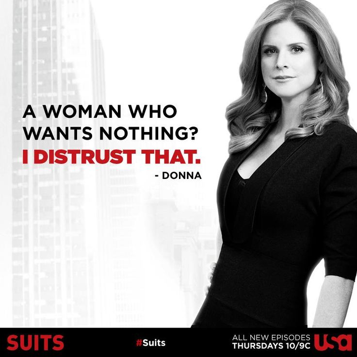 YES! Donna. Love this woman.Suits