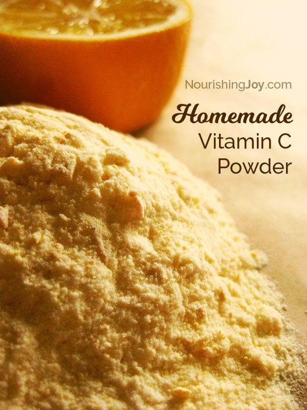 Homemade Vitamin C Powder - a potent, super-de-duper easy DIY supplement