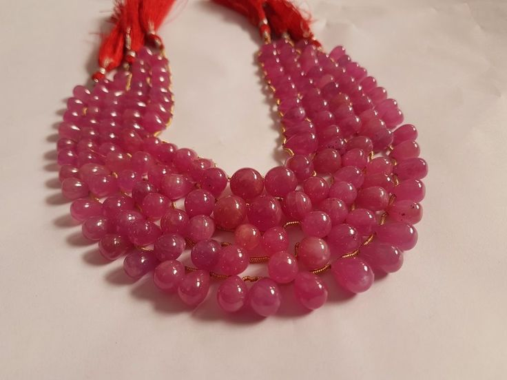 NATURAL RED RUBY DROPS 999.99CTS 5 BUNCH BEAUTIFUL NECKLACE RARE ITEM #ASGEMS