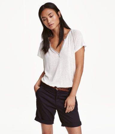 Dark blue Chino shorts H & M