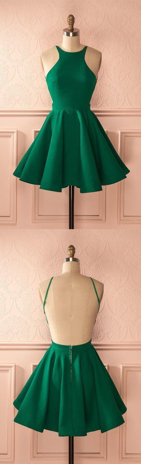 Fashion a-line Halfter rückenfrei grünes Kleid mit Falten, 90206