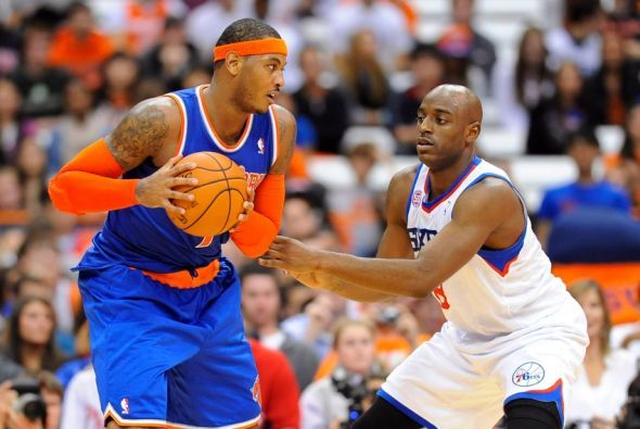 Carmelo Anthony led the New York Knicks to a victory at his alma mater Syrcause over the Philadelphia 76ers. #NBA #Knicks #76ers #CarmeloAnthony