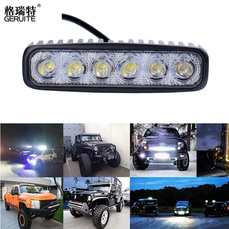 18 W Luz de Inundación LED Luz de Trabajo ATV Off Road Lámpara de Conducción de la Niebla Barra de luz Para 4x4 Todo Terreno SUV Coche Camión de Remolque de Tractor UTV Vehículo