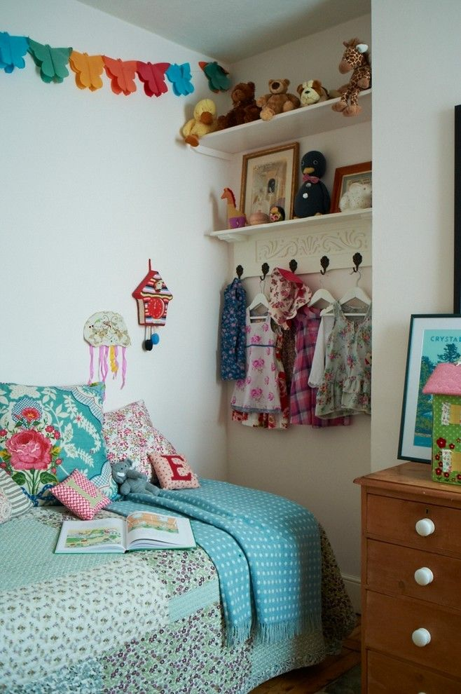 Phenomenal Chalk Paint decorating ideas for Arresting Kids Eclectic design ideas with bed Bedroom butterfly decor children cuckoo clock floral bedding Framed Artwork kids