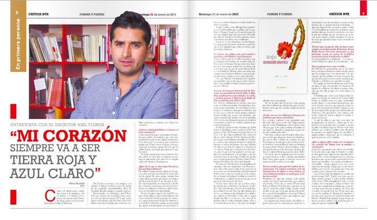 Ayer en #Crítica de @ntrzacatecas, esta entrevista a @joelfloresl por @perlavelasco