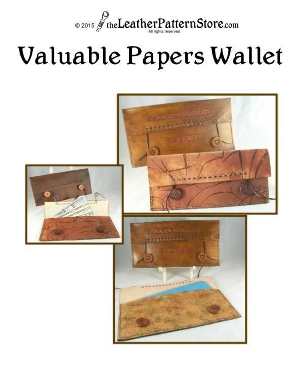 Looking for your next project? You're going to love Valuable Papers Wallet leather pattern by designer LeatherPatterns.
