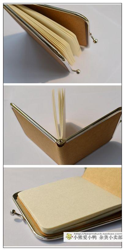 cute wallet notebook