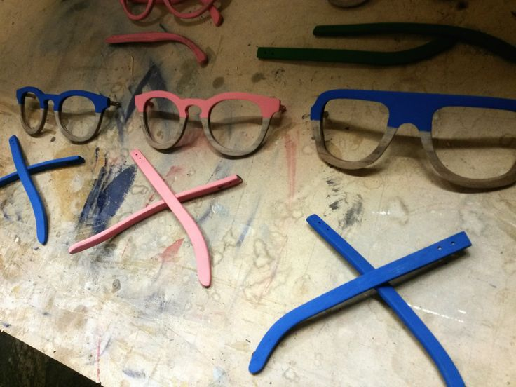 Testing.. Hand made Colorful WooDen Glasses..