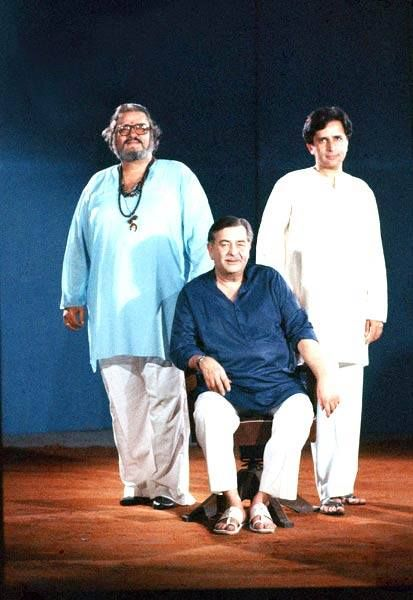 WITH BROTHERS SHAMMI AND SHASHI KAPOOR