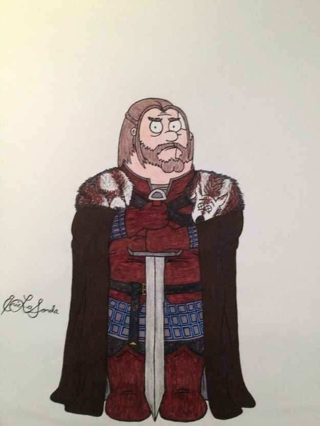 Here's What 'Family Guy' Characters Would Look Like In 'Game Of Thrones'