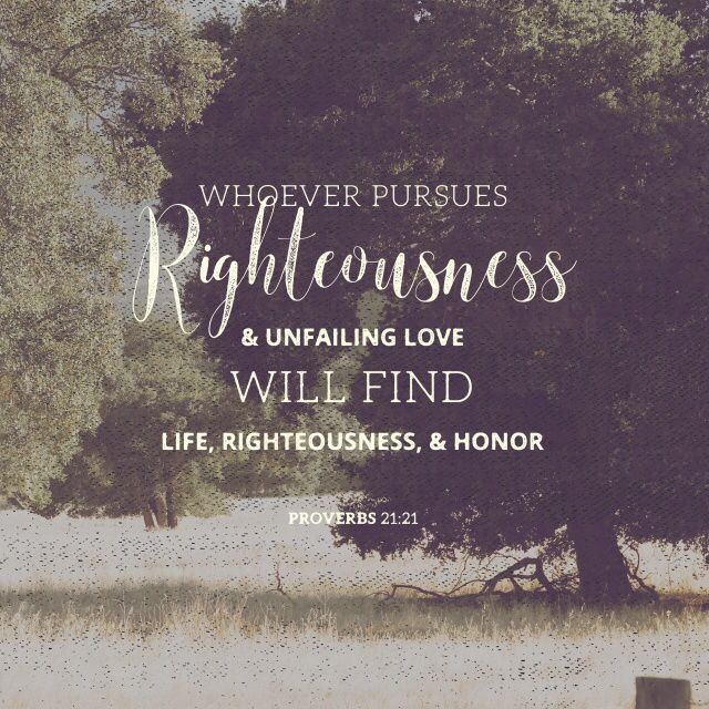 We can claim to be righteous, but unless we pursue righteousness, we will never find it. Proverbs 21:21. Newtoworship.com